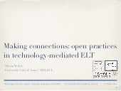 Making connections - open practices in technology-mediated ELT