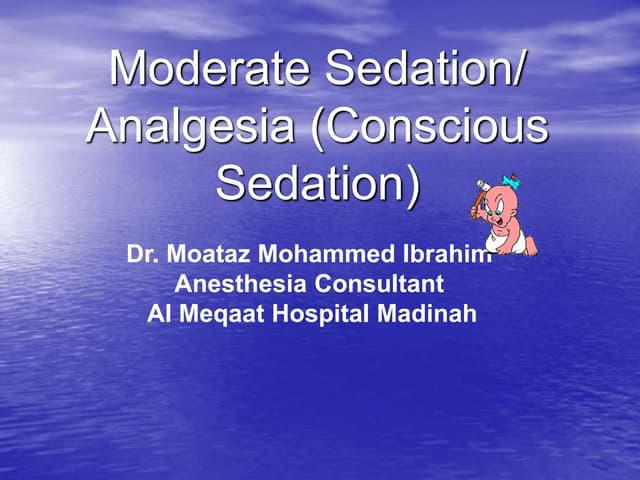 Conscious sedation course