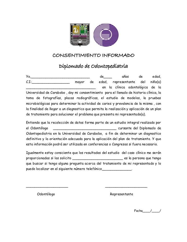 Consentimiento informado y articulo pdf