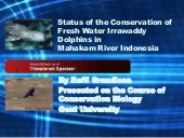Conservation of Pesut Mahakam
