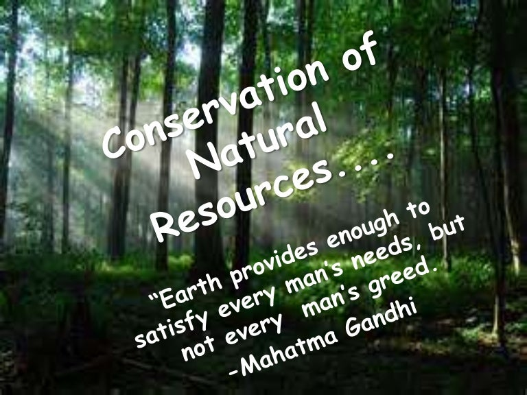 conservation of natural resources ppt