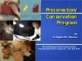 Preservation-Conservation Program for Laoag