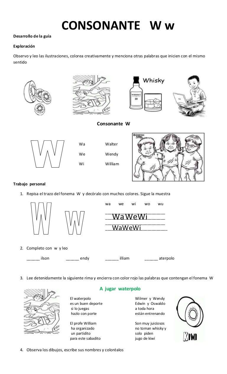 Consonante w