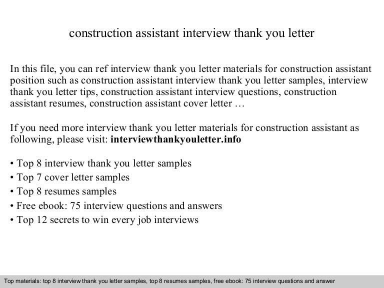 Construction assistant