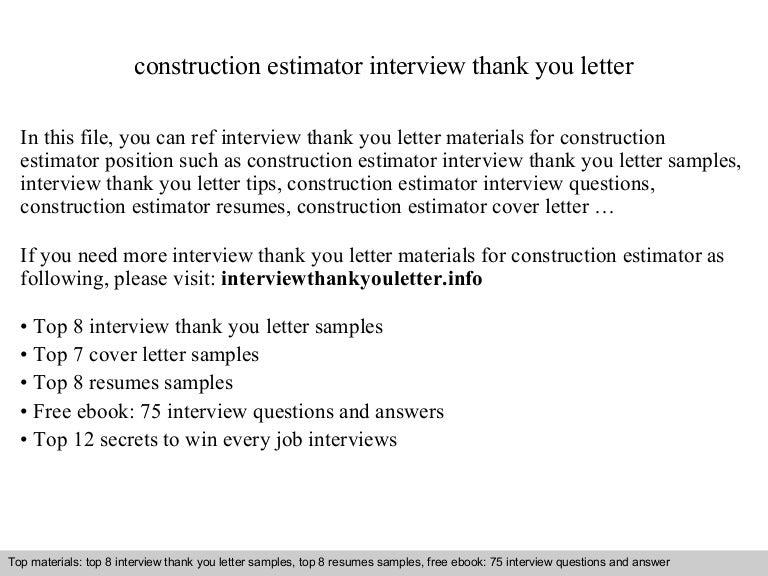 construction estimator cover letter - Koran.ayodhya.co