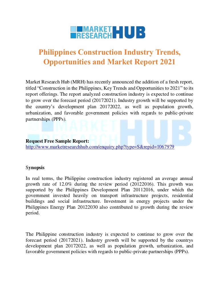 Philippines Construction Industry Trends Opportunities And Market Re