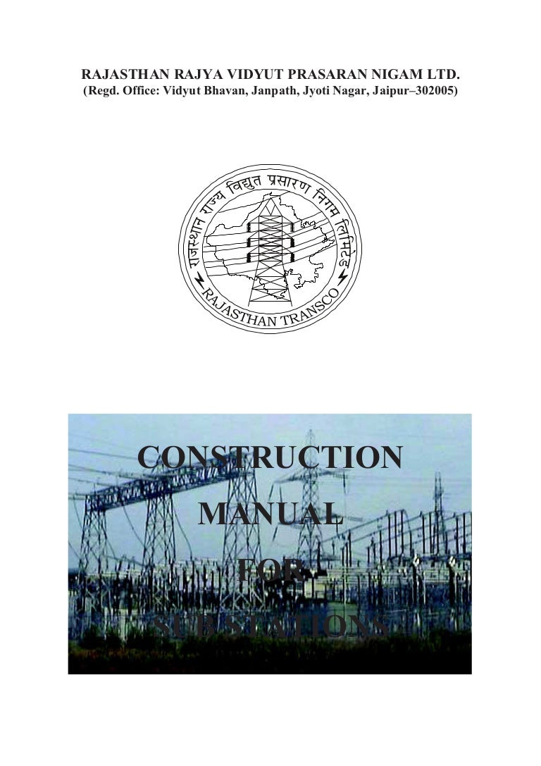 construction manual for sub stations rh slideshare net