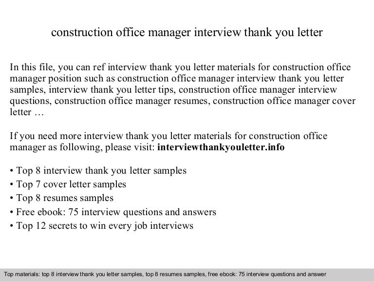 Construction Office Manager