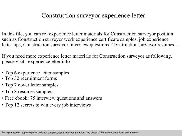 Constructionsurveyorexperienceletter 140904120515 phpapp02 thumbnail 4gcb1409832339 spiritdancerdesigns Image collections