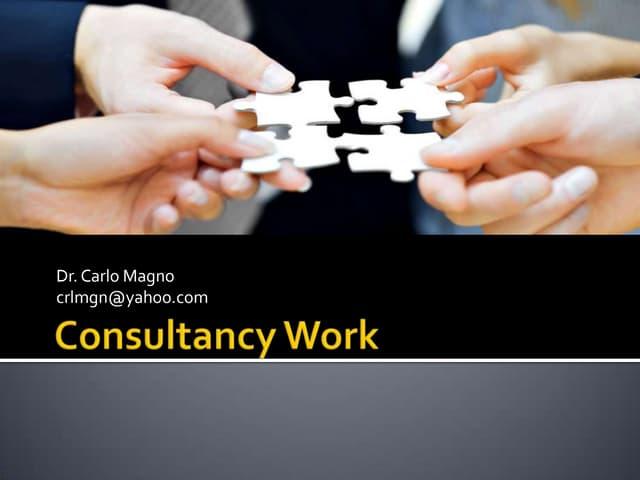 Consultancy work