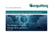 Mergers and Acquisitions in the Consulting Sector