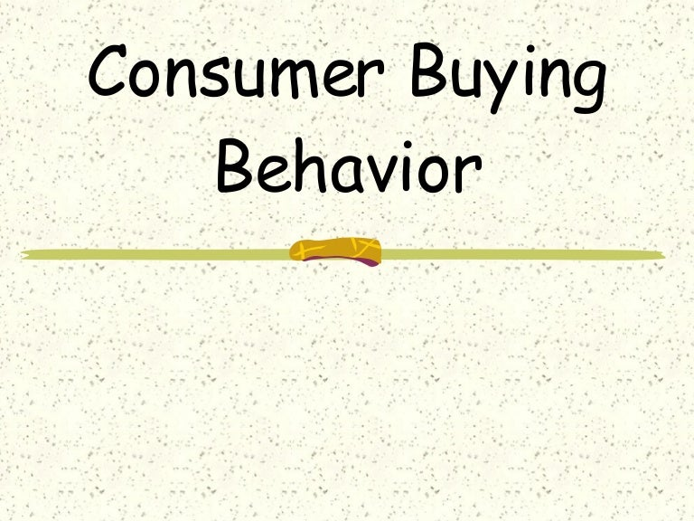 buying behaviours