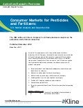 Consumer Markets for Pesticides and Fertilizers: U.S. Market Analysis and Opportunities - Brochure