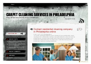 Contact residential cleaning company in philadelphia online