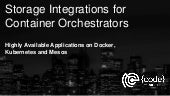 Storage Integrations for Container Orchestrators