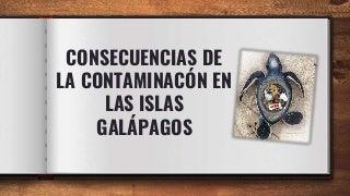 Contaminacion en galapagos
