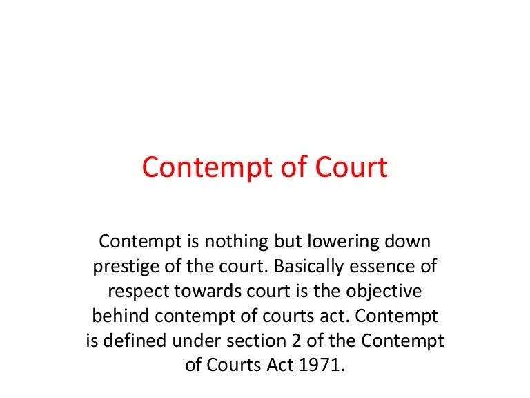 contempt of court 1971