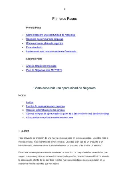 Contenidos De Proyecto De Empresas
