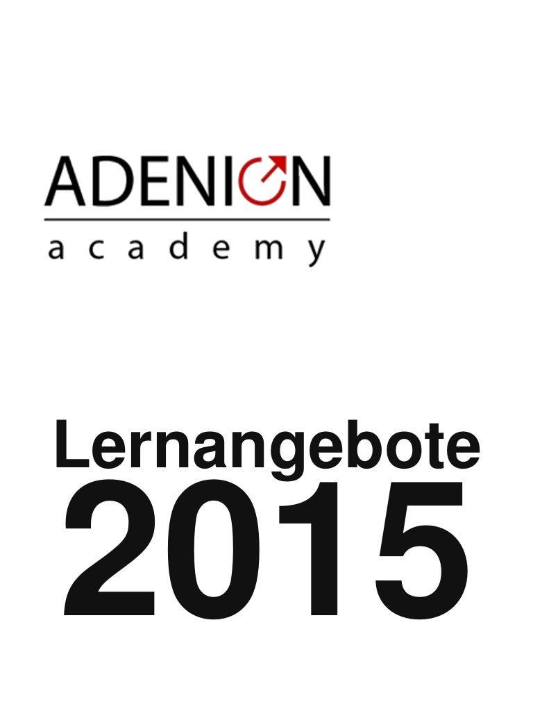 Content Marketing und Online-PR Lernangebote der Adenion Academy 2015