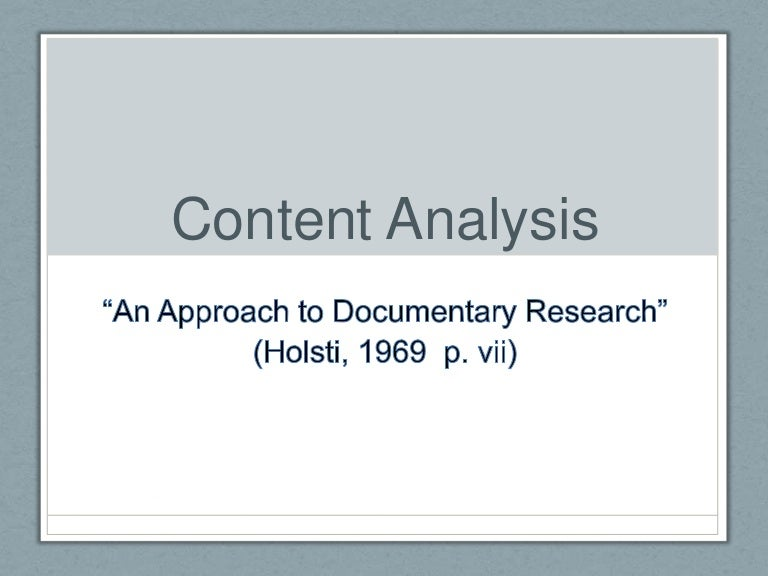 content analysis dissertation methodology I need to do a dissertation next year as part of my undergraduate degree programme the dissertation needs to involve some original research most people seem to be doing interviews or surveys but i have been considering doing qualitative content analysis instead, looking at how certain groups are represented in certain newspapers.