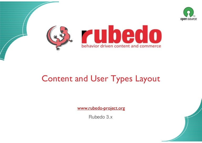 Content and user types layout