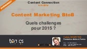 Content Marketing BtoB : Quels Challenges pour 2015 ?