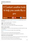 Content curation tools to curate content like a pro