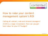 How to raise your content management system's ROI