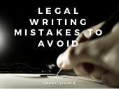 Legal Writing Mistakes to Avoid