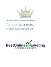 Content Marketing is the Most Important Part of SEO