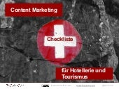 Content Marketing Strategie für Hotellerie und Tourismus - Checkliste in Deutsch
