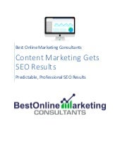 Content Marketing Gets SEO Results