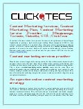 Content Marketing Services, Content Marketing Plan, Content Marketing Service Provider | Mississauga, Toronto, Oakville, GTA | ClickTecs
