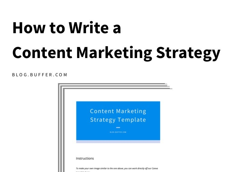 How To Write A Content Marketing Plan StepByStep