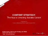 Content Strategy: The Keys Unlocking Scalable Marketing Content
