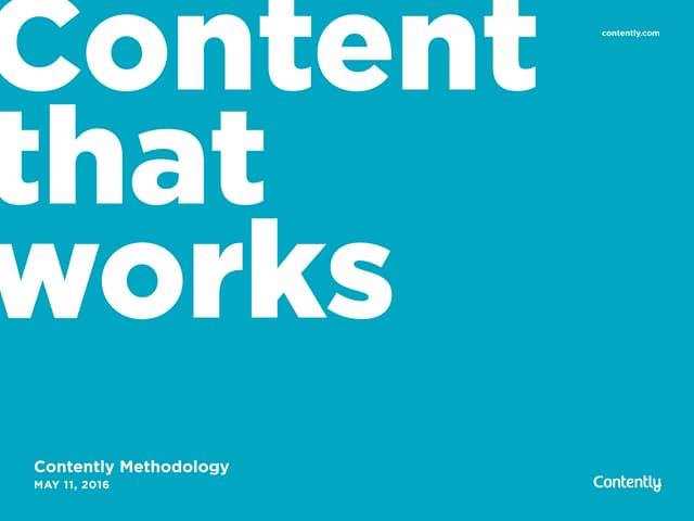 Content Methodology: A Best Practices Report (Webinar)