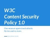W3C Content Security Policy