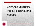 Content strategy past, present, future