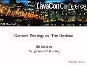 Content strategy vs. The Undead