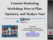 Content Marketing Workshop: How to Plan, Analyze and Optimize - Word Camp ATL 2014