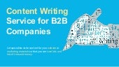 Website Copywriting / Content Writing Services for B2B Companies by Logit