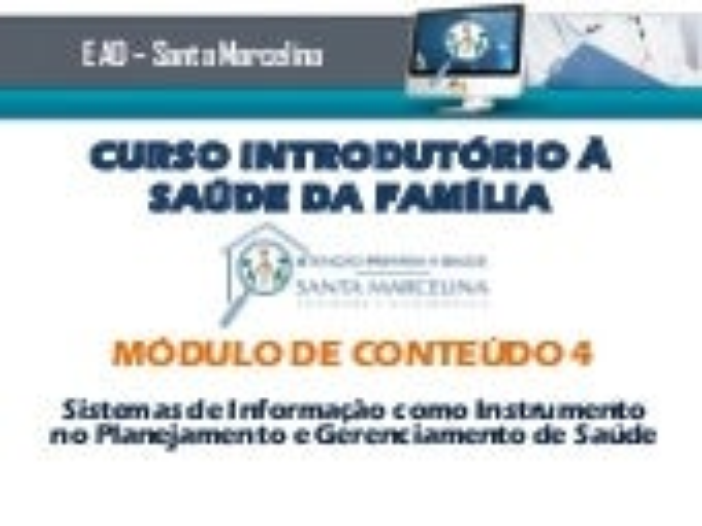 Curso Introduorio ESF - Conteudo teorico modulo 4 - SIAB