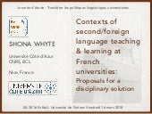 Contexts for FL/L2 teaching in French higher education