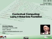 Contextual Computing: Laying a Global Data Foundation