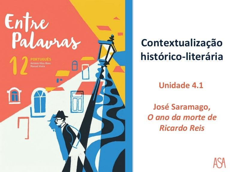 Contextualização histórico literária - O Ano da Morte de Ricardo Reis