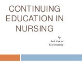 Continuing education in nursing