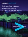 For the CISO: Continuous Cyber Attacks - Achieving Operational Excellence for the New Normal Exec Summary