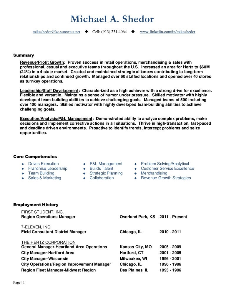 continuous improvement  u0026 operations leader resume of mike