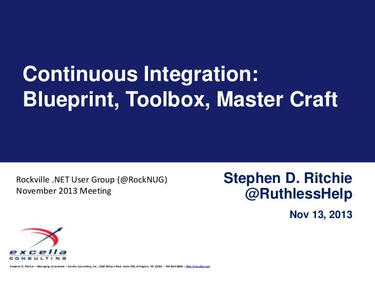 Continuous integration blueprint toolbox master craft malvernweather Choice Image