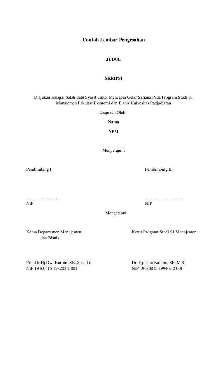 Contoh Lembar Pengesahan Skripsi Yang Benar Contoh Soal Dan Materi Pelajaran 2